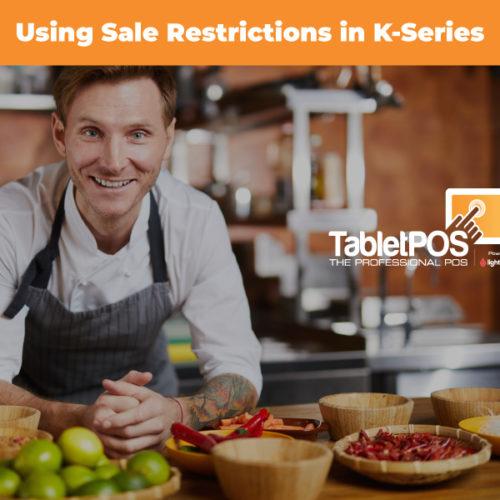 Lightspeed K-Series: Sales Restrictions